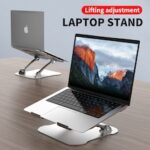 Laptop Stand Ergonomic Height Angle Adjustable Computer Laptop Holder Compatible with MacBook Air Pro Dell XPS Samsung