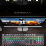 Professional Gaming Mechanical Keyboard Punk Real Mechanical Wired Keyboard Backlit Cool Gaming Keyboard