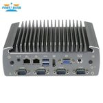 Partaker Industrial Fanless Mini Computer Intel 3855u i5-6200u i7-6500u Dual Core 2 Lan Noiseless Mini PC Support 3G 4G SIM Card