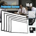 120 inch 16-9 foldable white projection screen cloth easy to carry projector screen