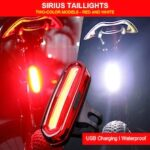 USB Rechargeable Bicycle Rear Light Safe Warning Taillight Night Riding Tail Light MTB Road Bike Safety Lamp Cycling Accessories