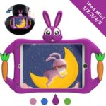 iPad Mini Case with Shoulder Strap for Kids Silicone Shockproof Cute Cover Handle Kickstand Kids Case Cover for iPad Mini 1 2nd 3rd 4th Gen 5th Gen