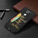 Black Background  Painted Phone Case for Xiaomi Redmi Note 9 Pro