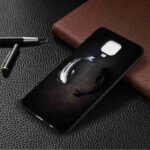 Black Background TPU Painted Phone Case for Xiaomi Redmi Note 9 / Redmi 10X 4G