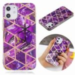 Electroplated Marble Process Phone Case for iPhone 12  5.4 Inch
