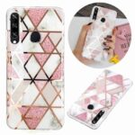Electroplated Marble Process Phone Case for Huawei Y6P 2020