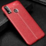Leather Texture Carbon Fiber Phone Case for Huawei Y8s
