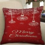 Merry Christmas Printed Pillow Cover