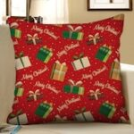 Merry Christmas Gift Printed Pillow Cover