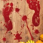 Halloween Blood Footprint Window Wall Stickers
