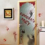 Halloween Blood Handprint Glass Window Door Stickers
