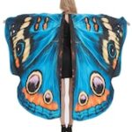 Halloween Party Cosplay Butterfly Wing Patterned Decorative Cape