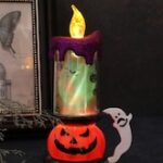Halloween Pumpkin Candle Shape LED Decorative Light