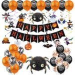 Halloween Decoration Bar Mall KTV Party Decoration Ghost Festival Ghost Pumpkin Head Black Bat Letter Balloon Set