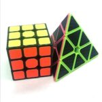 Puzzle Carbon Fiber Pyramid 3 * 3 * 3 Magic Cube Children's Educational Science Toys 2pcs
