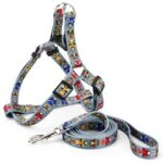 Polyester Triangular Face Opera Pattern Pet Dog Leash