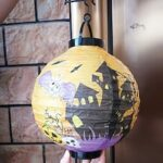 Halloween Pumpkin Props Decorative Paper Folding Portable Hanging Paper Pumpkin Lantern