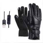 Winter Electric Heated Gloves Windproof Cycling Warm Heating Touch Screen Gloves USB Powered for Men Women