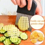 1PCS French Fries Cutter Stainless Steel+PP Potato Chips Making Peeler Cut Vegetable Kitchen Accessories Knives Fruit Tool Knife