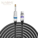 NAOMI 6.35 mm Mono to XLR Male Microphone Cable Quarter inch TS to XLR 3 Pin Unbalanced Interconnect Cable