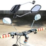 A Pair Rear View Mirror for Bike Bicycle Glass Left/Right Safety Mirror Wide Range Back Sight Reflector Angle Adjustable Mirrors