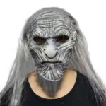 Type Game of Thrones 8 Horror The Night King Mask Cosplay Game White Walkers Mask with Wig Cosplay Night King Zombie Latex Masks Halloween Party Props