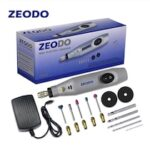 Zeodo Mini DIY Electric grinder Drill Grinding Set Power Rotary Tools ZD6000 2W-15W Wood Carving Engrave Pen DC 12V AC100-240V