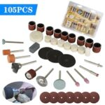 105pc Rotary Tool Accessories Set Electric Grinding Attachment Kit Multi mini drill Grinding Polishing Drilling Kits for Dremel