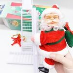 Christmas Decoration Santa Claus Electric Climbing Hanging Xmas Ornament 2020 Christmas For Home Santa Claus Gift Toys