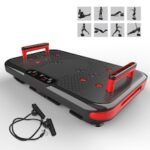 Fitness Vibration Plate Bluetooth Vibrating Plate  50 Adjustable Speeds  2 Integrated Handles  3 Vibration Modes with 12 Posture Guide
