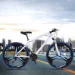 White Blue New Python shaped mountain bike 26 inch one wheel double disc brake gift car export car