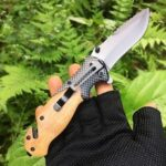 X50 Outdoor Wilderness Survival Folding Knife Self-defense Military Blade Open Sharp Multifunction Pocketknife