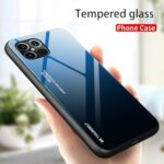 Suitable For IPhone 12 Camouflage Glass Drop Resistance Protective Sleeve 11Pro Gradient Shell Phone