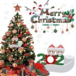 Survived Snowman Family Christmas Decoration Kit Personalized Named Ornaments Special Keepsake Xmas Decorations Gifts 7pcs