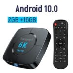 Android 10.0 Bluetooth TV Box Google Voice Assistant  6K 3D Wifi 2.4G 5.8G 4GB RAM 64G Play Store Very Fast BoxTop Box