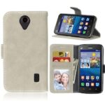 Card Slots Wallet Case Flip Cover PU Leather for Huawei Ascend Y635