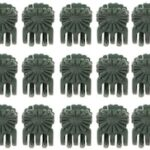 Plant Clips Plant Orchid Support Clips Flower and Vine Clips for Supporting Stems Vines Grow Upright Dark Green 100 Pcs