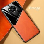 Phone Case for Xiaomi Poco X3 NFC Case PC Leather TPU Frame Built-in Iron Cover for Xiaomi Poco X3 Pocophone F2 Pro