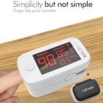 Digital Finger Oximeter Portable Electronic LED Display Fingertip Pulse Oximeter Oxymeter Oximetry Instrument Monitoring Heart Rate Blood Glucose SpO2