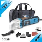 NEWONE 230V Oscillating Tool in 500W Oscillating Multi-Tool With Saw Blades Variable Speed Function Trimmer Renovation Tool