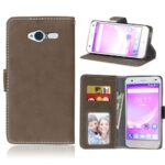 Card Slots Wallet Case Flip Cover PU Leather for ZTE Blade L3