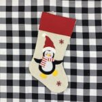Santa Claus Snowman Christmas Stockings Large Creative Gift Bags Candy Bags Elk Hanging Christmas Decoration