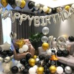 Happy Birthday Boys and Girls Aluminum Film Balloon Set Party Scene Background Wall Decoration Supplies
