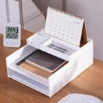 A4 Multi-layer Plastic Storage Baskets Information Office Stationery Holder Suits Slide Adjusters