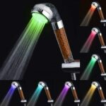 LD8008-A23 Anion LED Shower Head SPA Color Changing Booster Showerhead
