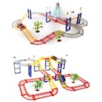 Children Track Car Toy Set Electric Variety Multilayer Rotating Track Free Assembling Enlightenment Toys