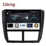 Idoing 1Din 9 inch Car Radio GPS Multimedia Player Android Auto For Subaru Forester WRX 2008-2014 4G+64G QLED Navigation Head Unit