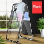 Magnetic Absorption 360 Full Cover Metal for IPhone12 11 Pro Max Mini X XR XS Double-sided Glass Mobile Phone Protective Case  Camera Lens Protectiv