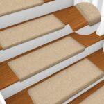Carpet Stair Treads 15 pcs 65×25 cm Taupe