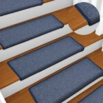 Carpet Stair Treads 15 pcs 65×25 cm Blue